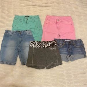 Girls Size 12 Summer Shorts Bundle Justice